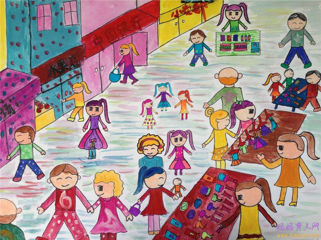 幼儿园大班艺术活动《热闹的市场》教案及反思