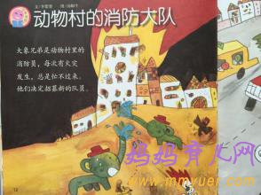 幼儿园中班语言活动《动物村的消防大队》教案及反思