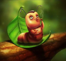 儿童睡前小故事《大毛毛虫去哪里了》体验成长与蜕变