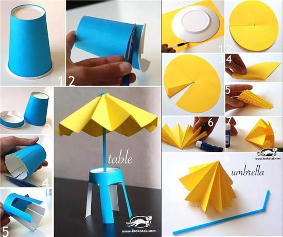 主页 学龄前 幼儿园 > 简易手工制作:小纸杯神奇大  椅子做法和桌子