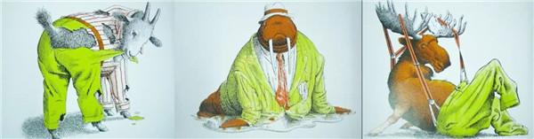亲子绘本《动物绝对不应该穿衣服》动物自身衣服最完美(2)