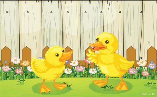 幼儿园艺术活动《小鸭子》 尝试自己折一只小鸭子