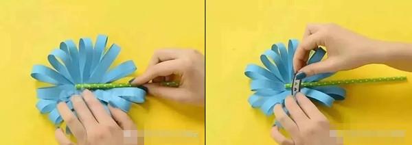 清明节手工:清明节手工菊花制作步骤 幼儿园清明节菊花制作大(2)