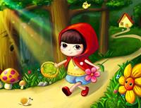 格林童话故事《小红帽》孩子爱听的睡前儿童故事