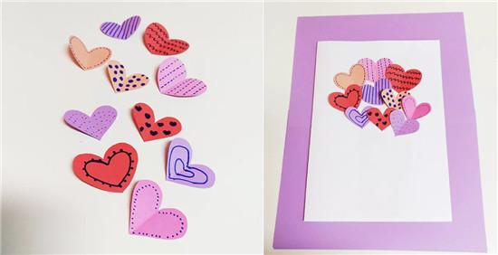母亲节手工:妈妈节爱心贺卡制作步骤 送妈妈的创意手工贺卡