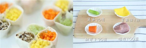 宝宝辅食大全:三蔬彩色饺子做法 辅食就得这样变着花样吃