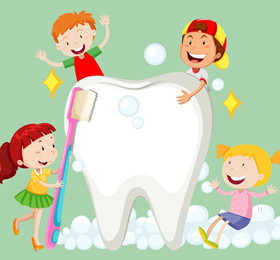 托班健康教案《白牙与黑牙》 了解刷牙的重要性