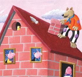 托班教案《三只小猪》 初步理解勤快和懒惰的意思