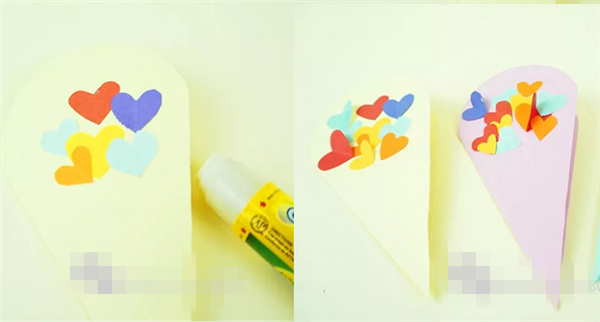 > 幼儿园母亲节贺卡手工制作  精美小花束 准备材料 各色硬卡纸,彩色
