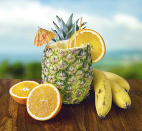 幼儿英语教案《认识水果》 banana,pineapple(香蕉,菠萝)