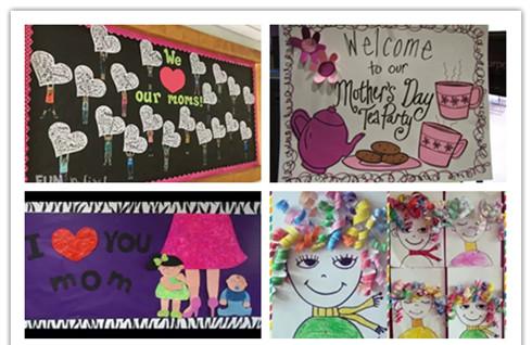 幼儿园母亲节环创:创意主题墙布置表达爱与感恩 幼师必收!