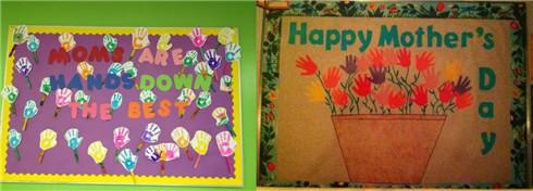 幼儿园 > 幼儿园母亲节环创  母亲节前夕,幼儿园可以组织一次美工区画图片