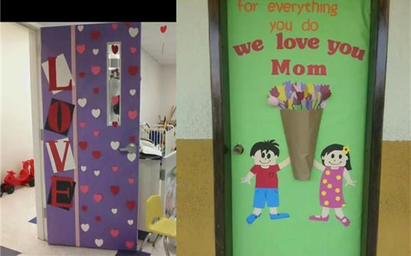 惊!这些幼儿园母亲节环创居然是孩子亲手制作!图片暖心!