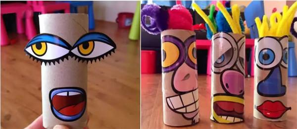 父亲节礼物手工制作纸筒大变身 父亲节创意亲子手工