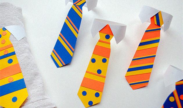 大班艺术教案 父亲节礼物《爸爸的领带》绘画活动