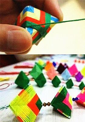 幼儿园端午节手工作品 可爱香包简单易学的折法