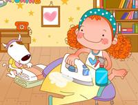 最温馨的60个睡前故事 儿童故事《小狗皮皮做家务》