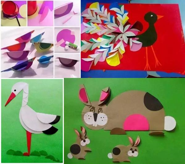 折纸小鸟,美丽的孔雀,小兔子也是可以变成的,当然丹顶鹤也是可以的!