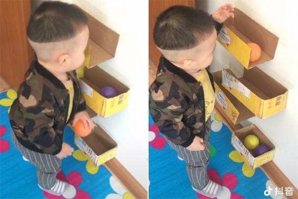 抖音里墙上粘的自制纸盒滚球怎么做 抖音纸盒滚球的做法