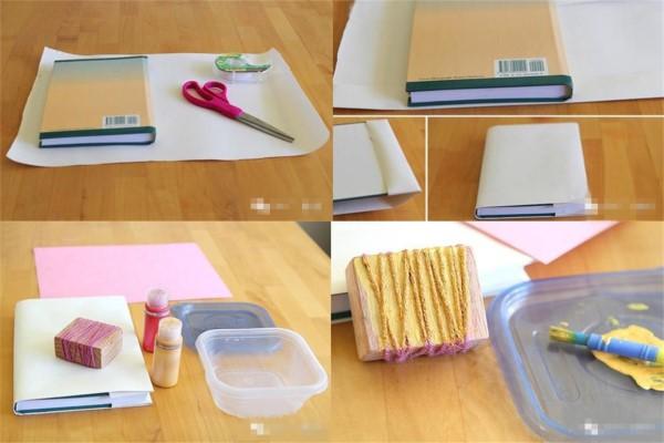 怎样包书皮好看图解 简单好看包书皮的方法图解教程