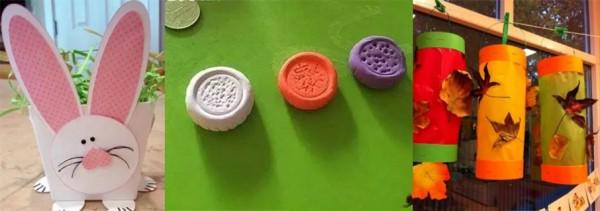 幼儿园中秋节手工制作 玉兔月饼花灯手工制作超齐全