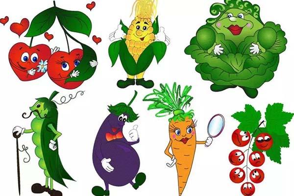 蔬菜娃娃矢量图