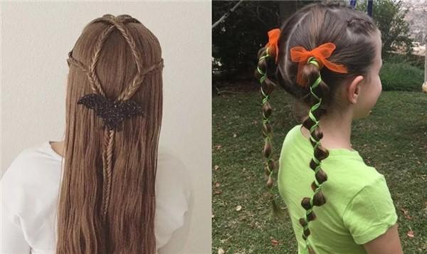 宝宝辫子简单洋气扎法 万圣节发型玩出新花样图片