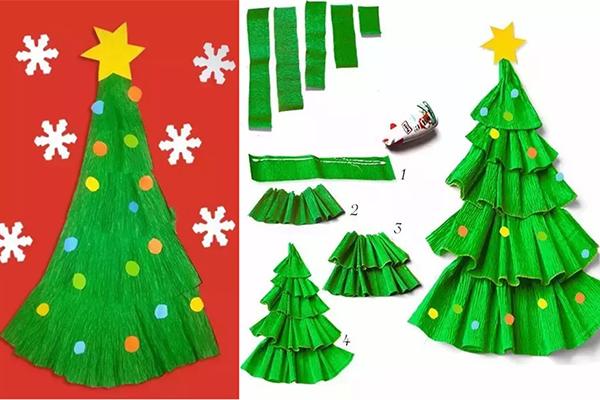 幼儿园圣诞节创意手工 圣诞树手工制作快学起来吧