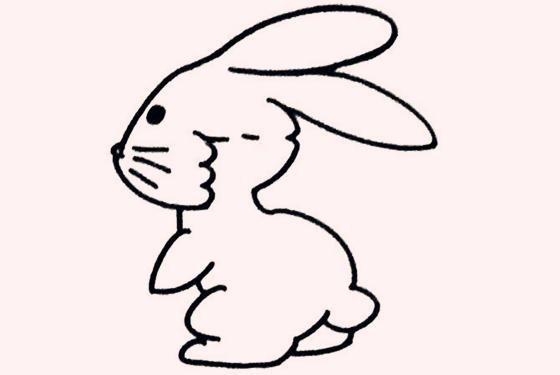 超可爱的兔子简笔画 小朋友一定超喜欢