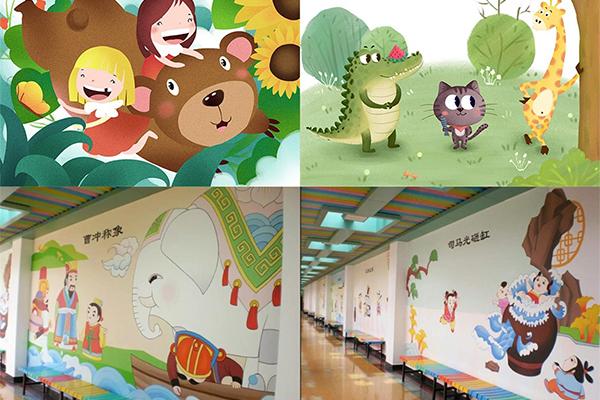 幼儿园墙体手绘 简单好看的墙绘图片推荐