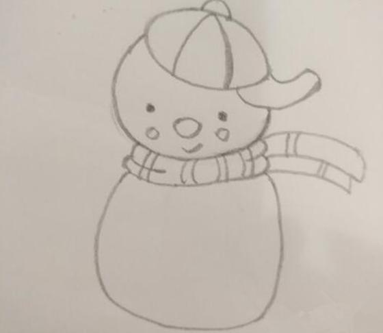 雪人如何画简单 五分钟学会雪人简笔画新式画法