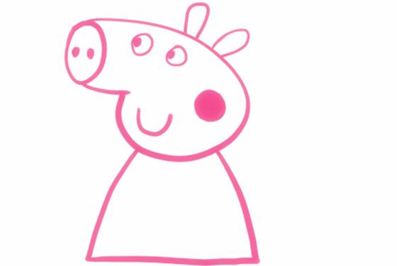 主页 教育 幼儿园教案 大班教案 > 小猪佩奇简笔画画法  6,画脸蛋