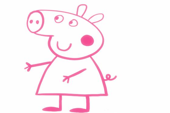 小猪佩奇简笔画画法 一笔一画教会你