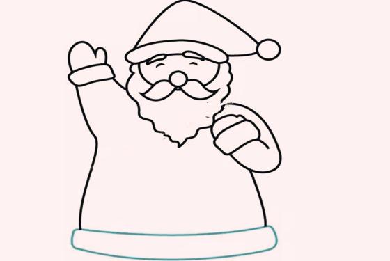 卡通圣诞老人简笔画 3岁小孩也能分分钟学会