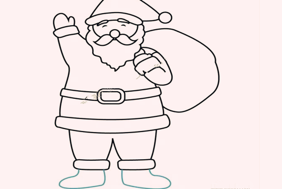 卡通圣诞老人简笔画 3岁小孩也能分分钟学会 - 妈妈图片