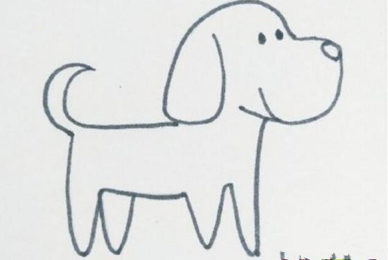 可爱斑点狗简笔画画法 比想象中的简单多了