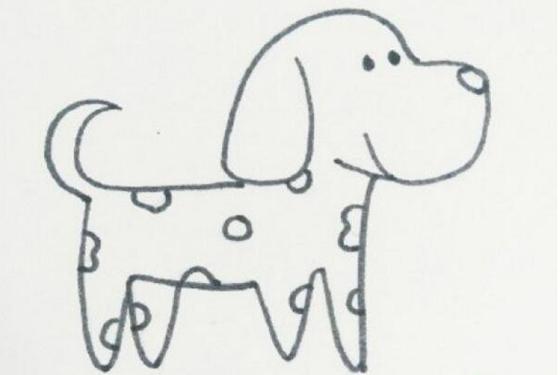 主页 教育 幼儿园教案 大班教案 > 斑点小狗简笔画画法  8,画小狗花纹