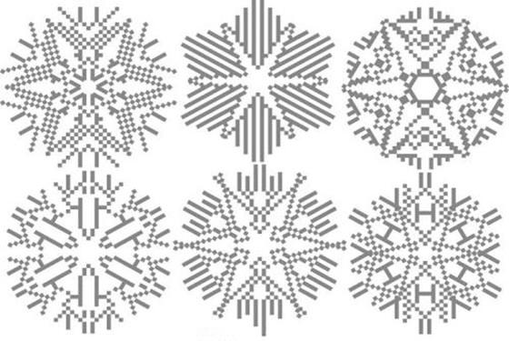 最简单的雪花简笔画 六瓣雪花简笔画画法步骤
